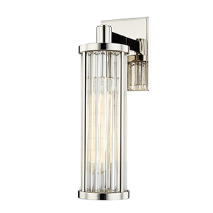 Canyon Polished Nickel One-Light 5-Inch Wall Sconce