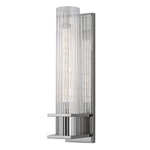 Jackson Polished Nickel One-Light Wall Sconce with Clear Glass Shade