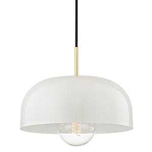 Eva Aged Brass One-Light 14-Inch Pendant