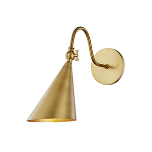 Jonah Aged Brass One-Light Wall Sconce