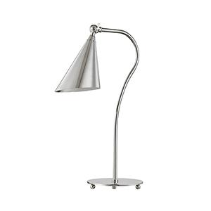 Jonah Polished Nickel One-Light Table Lamp