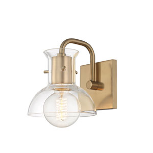 Sloane Aged Brass 6-Inch One-Light Bath Vanity