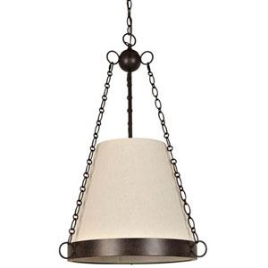 Crawford Charcoal Bronze Six-Light Pendant