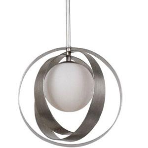 Stellar Antique Silver One-Light Globe Pendant