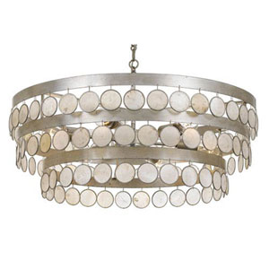Brittany Antique Silver 28-Inch Six-Light Pendant