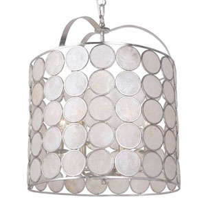 Brittany Antique Silver Six-Light Pendant
