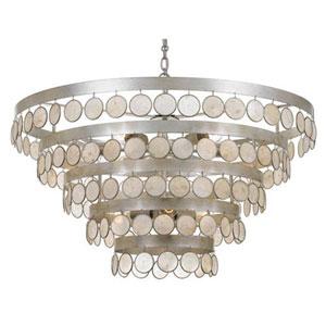 Brittany Antique Silver Nine-Light Pendant