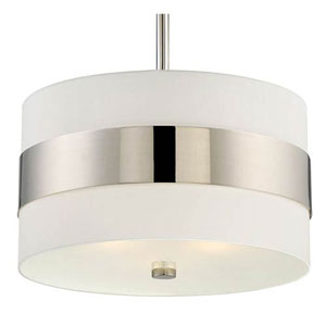 Colton Polished Nickel Three-Light Pendant