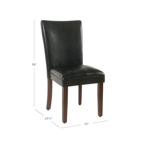 Parsons Dining Chair - Black Faux Leather - Set of 2