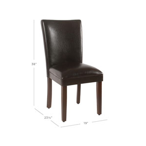 Parsons Dining Chair - Brown Faux Leather - Set of 2
