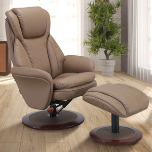 Norway Recliner in Sand Leather