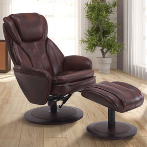 Comfort Chair Whisky Breathable Swivel, Recliner with Ottoman