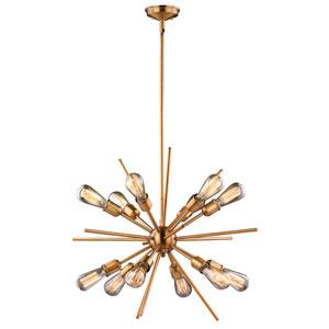 Estelle Natural Brass 12-Light Pendant