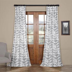 Triad Smoke 120 x 50 In. Printed Cotton Twill Curtain Single Panel