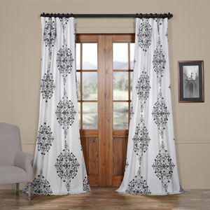 Cocoa 120 x 50 In. Printed Cotton Twill Curtain Single Panel