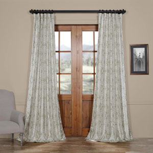Island Green 96 x 50 In. Faux Silk Taffeta Blackout Curtain