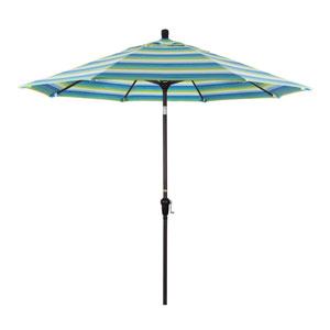 9 Foot Aluminum Market Umbrella Auto Tilt Bronze/Sunbrella/Dolce Oasis