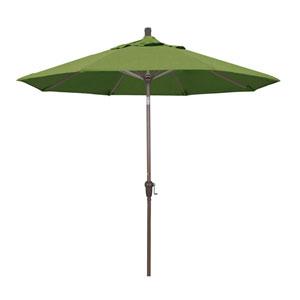 9 Foot Aluminum Market Umbrella Auto Tilt Champagne/Sunbrella/Spectrum Cilantro