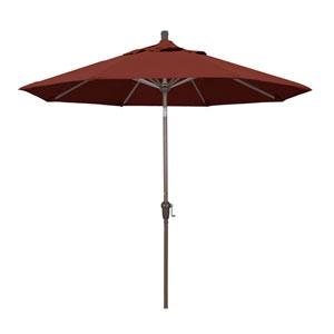 9 Foot Umbrella Aluminum Market Auto Tilt Champagne/Sunbrella/Henna