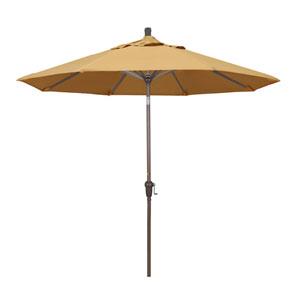 9 Foot Umbrella Aluminum Market Auto Tilt Champagne/Sunbrella/Wheat