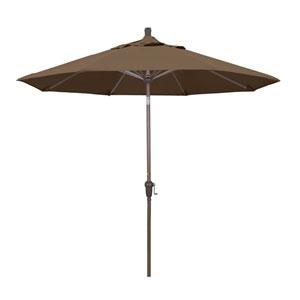 9 Foot Umbrella Aluminum Market Auto Tilt Champagne/Sunbrella/Cocoa