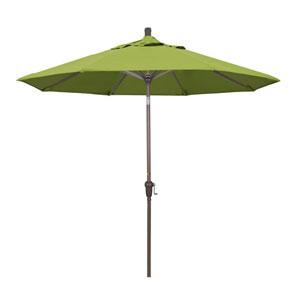 9 Foot Aluminum Market Umbrella Auto Tilt Champagne/Sunbrella/Macaw