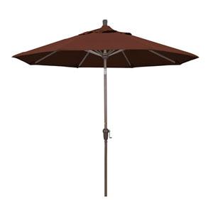 9 Foot Umbrella Aluminum Market Auto Tilt Champagne/Sunbrella/Bay Brown