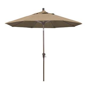 9 Foot Umbrella Aluminum Market Auto Tilt Champagne/Sunbrella/Heather Beige