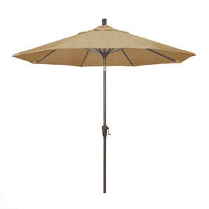 9 Foot Umbrella Aluminum Market Auto Tilt Champagne/Sunbrella/Sesame Linen