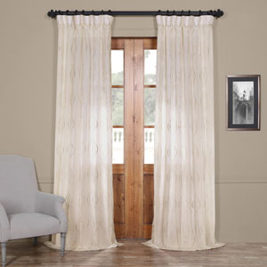 Suez Natural Brown 108 x 50-Inch Curtain Single Panel