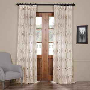 Suez Bronze 96 x 50-Inch Curtain Single Panel