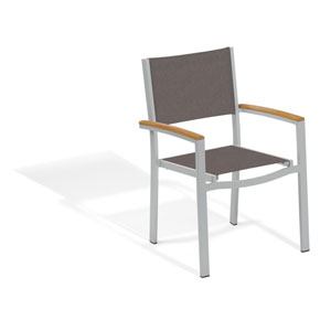 Travira Cocoa Sling Armchair Chair - Set of 2