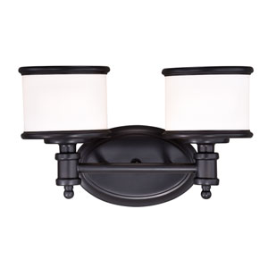 Carlisle Noble Bronze Two-Light Bath Vanity
