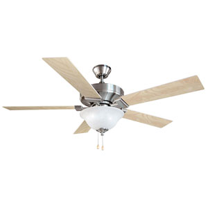 Ironwood Satin Nickel 52-Inch Ceiling Fan