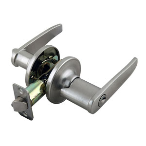 Delavan Satin Nickel Two-Way Latch Entry Straight Door Handle