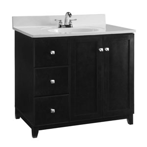 Furniture-Style Vanity Cabinet, 36-inches by 21-inches, Espresso