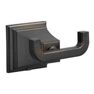 Torino Brushed Bronze Double Robe Hook
