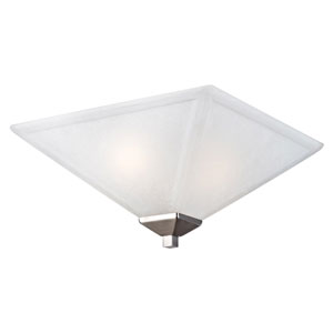 Torino Satin Nickel Two-Light Flush Mount Ceiling Light