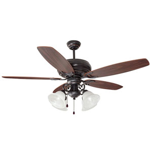 Drake Four-Light Oil Rubbed Bronze Ceiling Fan