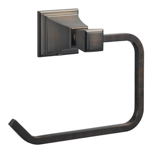 Torino Brushed Bronze Towel Ring