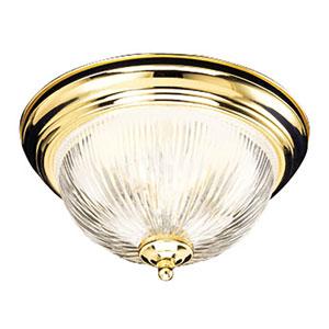 Millbridge Polished Brass Single-Light 11.25-Inch Ceiling Mount