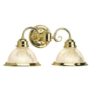 Millbridge Polished Brass Two-Light Wall Sconce