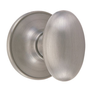 Egg Satin Nickel Reversible Oval Dummy Knob