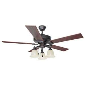 Ironwood 52-Inch Three-Light Brushed Bronze Ceiling Fan