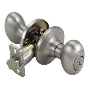 Egg Satin Nickel Two-Way Latch Entry Door Knob