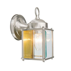 Coach Satin Nickel Outdoor Wall Mounted Light