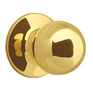 Ball Polished Brass Reversible Dummy Door Knob