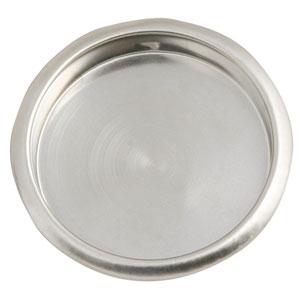 Satin Nickel 2-1/8-Inch Closet Finger-Pull Pocket