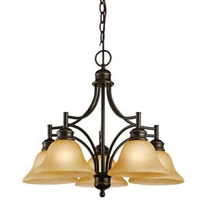 Bristol Oil Rubbed Bronze Five-Light Chandelier