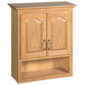 Richland Nutmeg Oak Bathroom Wall Cabinet